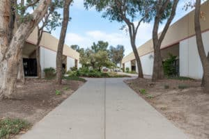 outside landscaping of interior warehouse in Industrial Condominium Unit buildings for Sale in Oxnard, CA