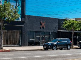 exterior of retail building for lease in Burbank, CA